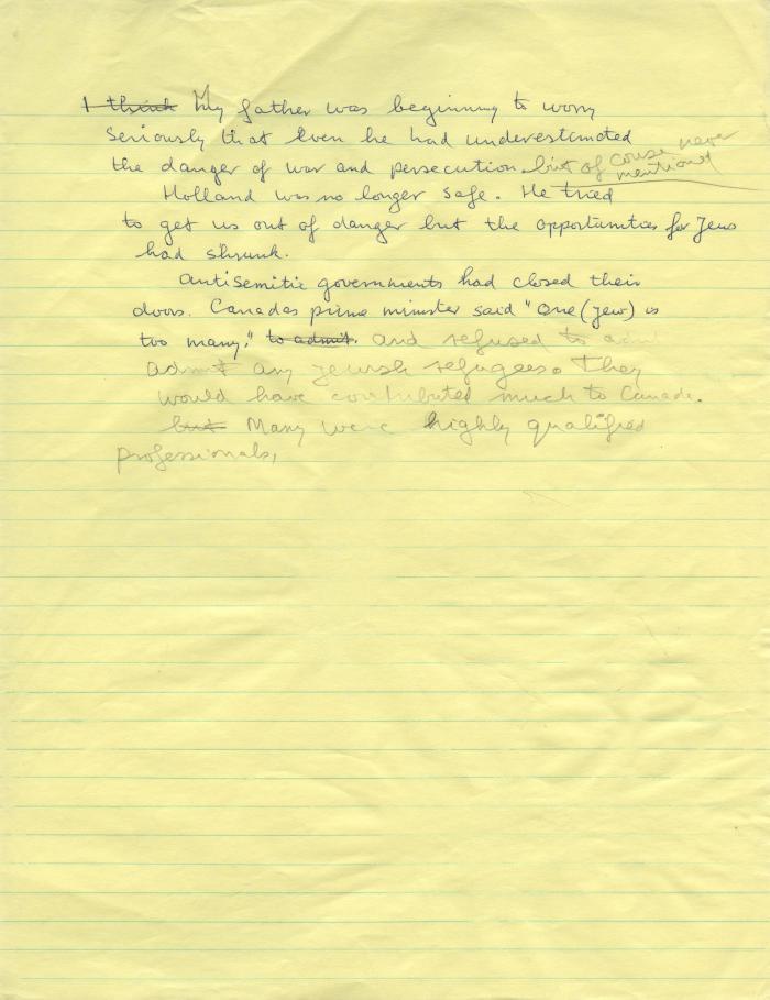 JH father memoir notes