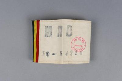 Belgian resistance armband