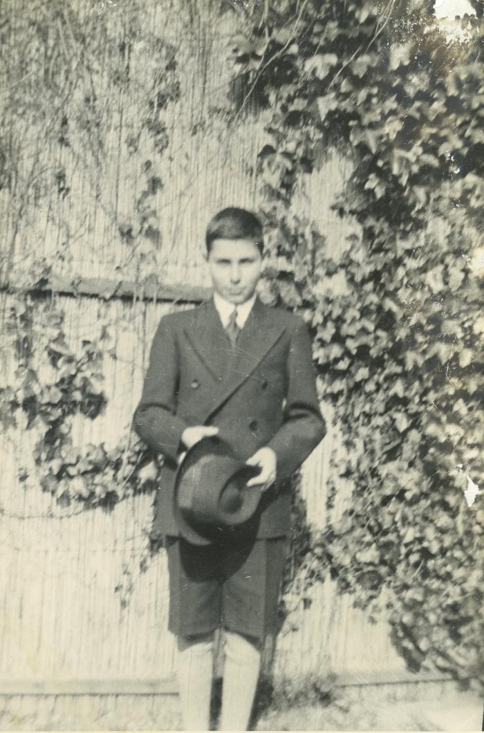 John as a very young man