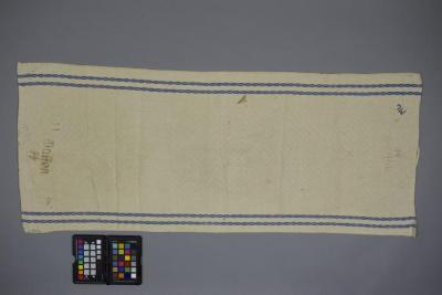 Towel acquired at the liberation of Bergen-Belsen