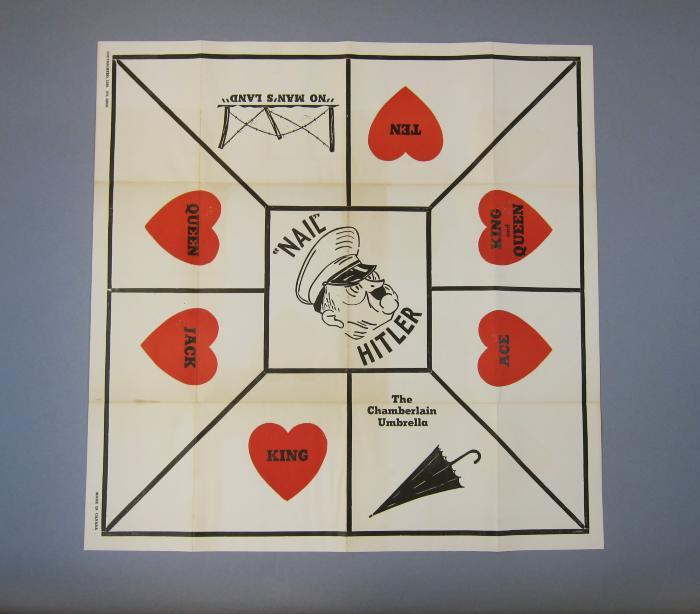 """""""Nail"""" Hitler board and card game"""