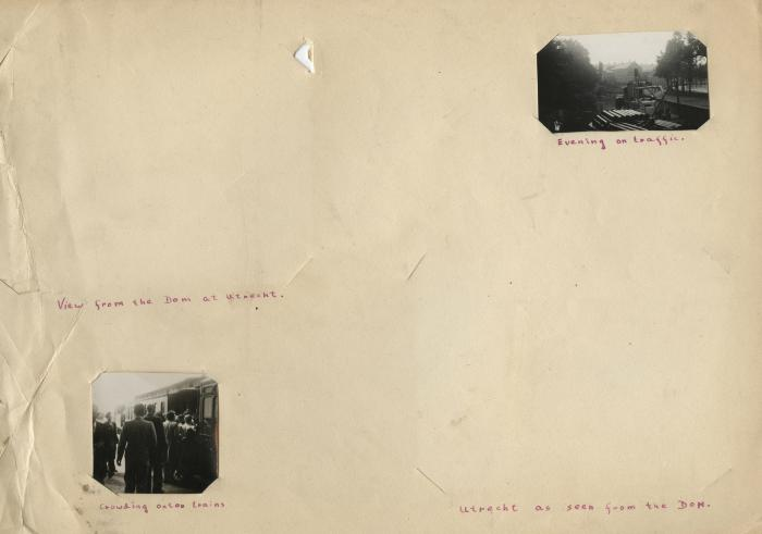 Loose photograph album page [2 of 2]