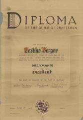 Diploma of the Guild of Craftsmen [Eveline Berger]