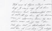 [Negative of correspondence from Emma van Dam]