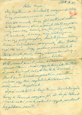 [Letter from Daniel Kiss]
