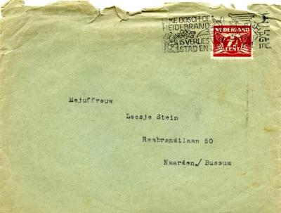 [Envelope addressed to Loesje Stein]