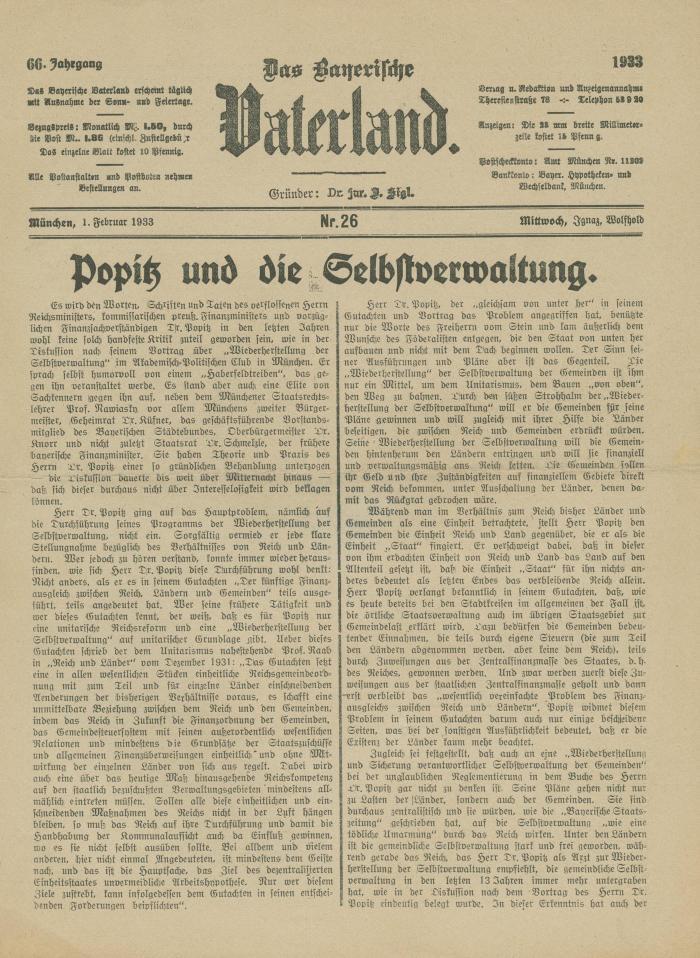 Das Bayerische vaterland