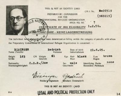 Certificate of IRO eligibility