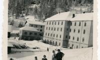 Amalia's father on a ski holiday.