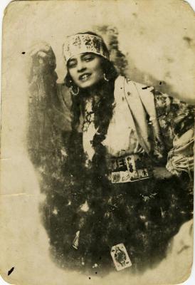 Arthur Hollander's paternal aunt in costume