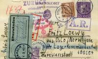 [Postcard from Sylvia to Fritz Loewy in Theresienstadt]