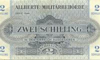 2 schilling banknote issued by the Allied Military in Austria