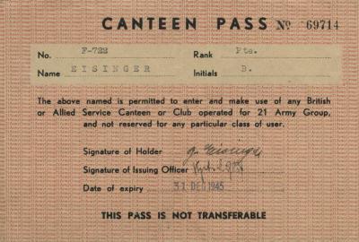 Canteen pass
