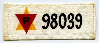 Replica prisoner badge belonging to Alexei Mielnicki