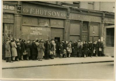London, England queue for horsemeat