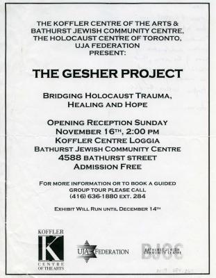 [Bathurst Jewish Community Centre invitation ]
