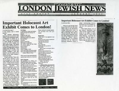 Important Holocaust art exhibit comes to London!