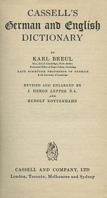 Cassell's German and English dictionary