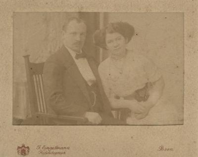 [Photograph of unidentified man and woman]