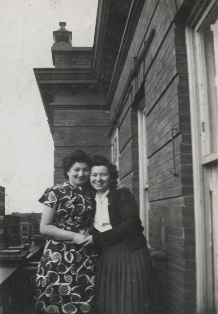 [Photograph of Jennie and sister Dora]