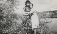 [Photograph of Jennie and stepmother Clara]