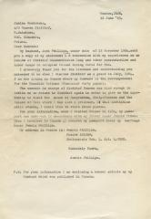 Letter to Janina Grabowska from Jennie Phillips