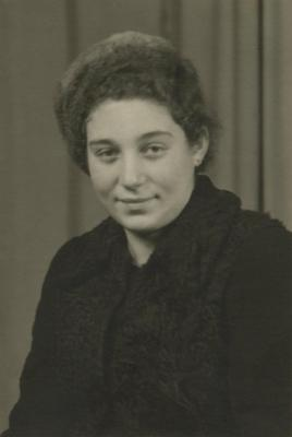 [Photograph of unidentified woman]