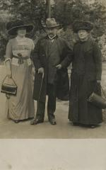 [Photograph of Max and Martha Bick with unidentified woman]