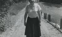 [Photograph of Jennie on pathway]