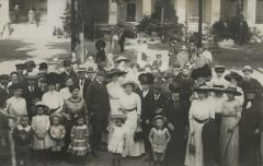 [Photograph of partygoers]